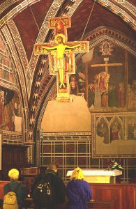 San Damiano Cross in the Basilica of St. Clare, Assisi